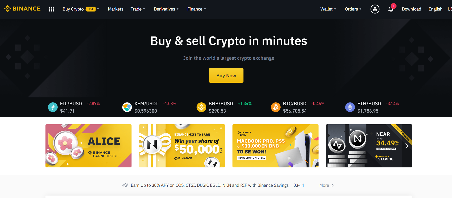 Binance Exchange Official Website